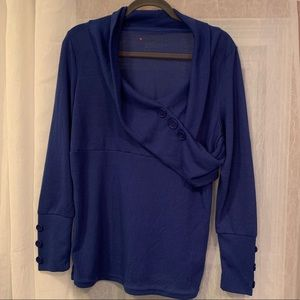 One Step Dark Blue Sweater Size 1X